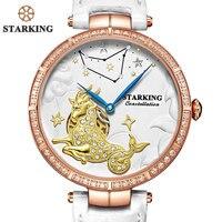 STARKINGยี่ห้อวินเทจCapricornusนาฬิการูปร่างผิดปกติแบบDialสแตน