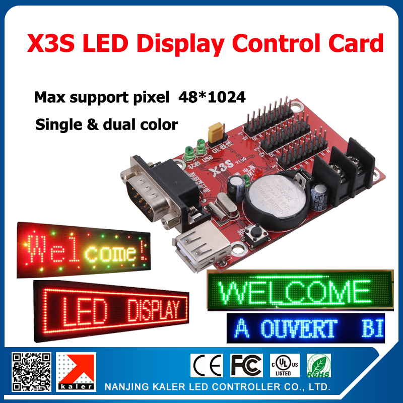 Kaler X3S Usb Led Control Card 3pcs T12 Serial Input Led Cards Control Display Led Scrolling Sign Serial Port Card