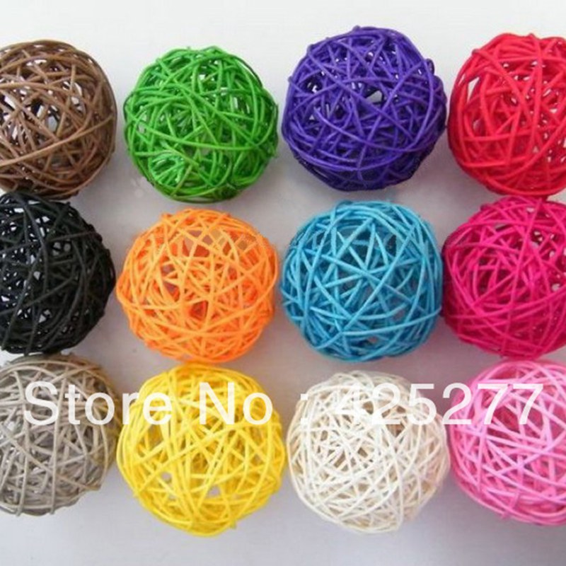 Home & Garden Friendly Christmas Tree Decorative Rattan Ball,wedding And Home Ornament Craft Ball 4 Cm 40pcs/bag Free Shipping 014024004 Skillful Manufacture