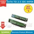A ESTRENAR SATA Hembra a 44Pin 2.5 IDE HDD SSD Adaptador Convertidor Macho 7 + 15 P sata 22pin a ide al por mayor