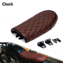 Motorcycle Brown Hump Universal Seat Cafe Racer Vintage Saddle For Honda CB 125 Yamaha SR(China)