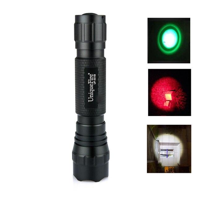 UniqueFire lampe de poche extérieure WF-501B XPE torche LED tactique 3 Modes pour la chasse la nuit