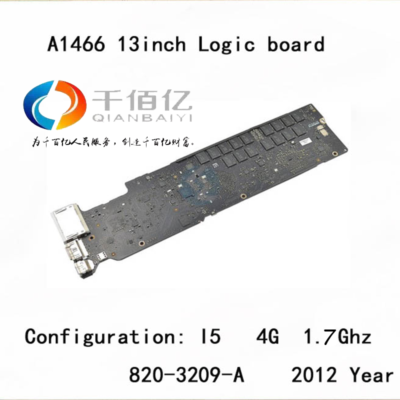 Used-with-100-working-Logic-board-for-Macbook-Air-A1466-mother-board-13-I5-4G-1