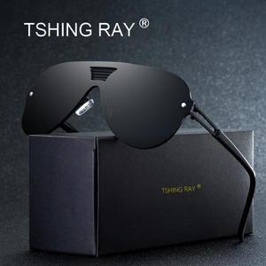 a6945f9383 TSHING RAY Men Women Mirror Driving Sun Glasses Male