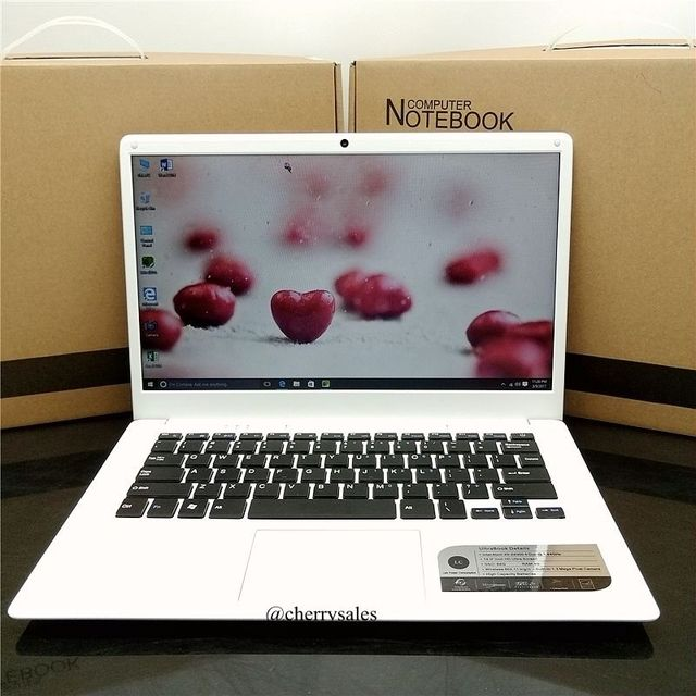 14 inch ultrabook with 4G RAM 64G ROM In-tel Atom X5-Z8300/8350  Windows10 System Laptop HDMI WIFI