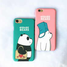 Cute Couple Cartoon Bear Pattern Phone Cover Case For Iphone X Xs Max Xr 10 8 7 6 6s 5 5s Se Plus Luxury Hard Coque Fundas
