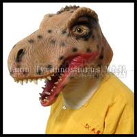 2016 New Design Eco friendly Adult size realistic latex Dinosaur Mask Triceratops Full Head Party Animal Mask Tyrannosaurus Mask