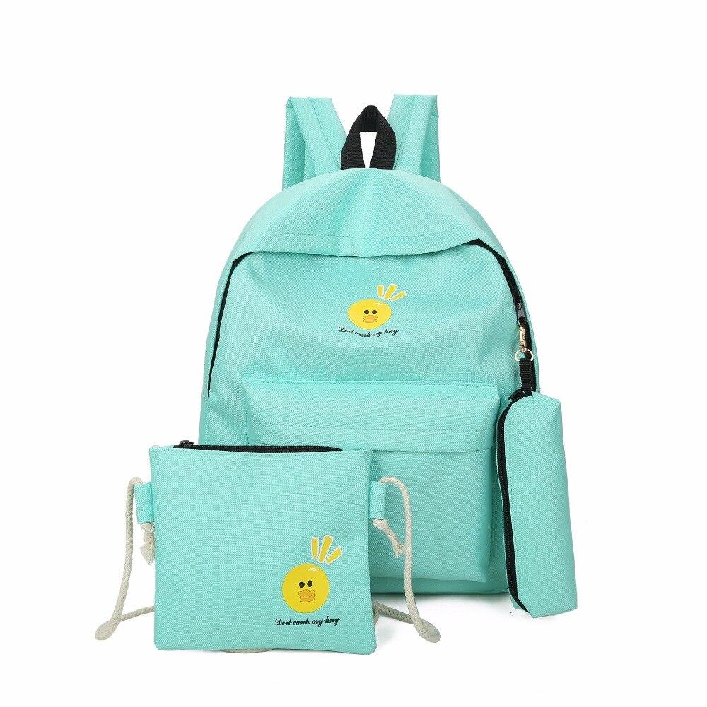 Female bag 2018 new south Korean edition fashion casual double shoulder bag, backpack, multi-piece bag.