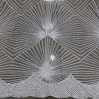 Wedding African Lace Fabric With Silver Glitter Sequins High Quality Nigerian Lace Fabric With Sequins