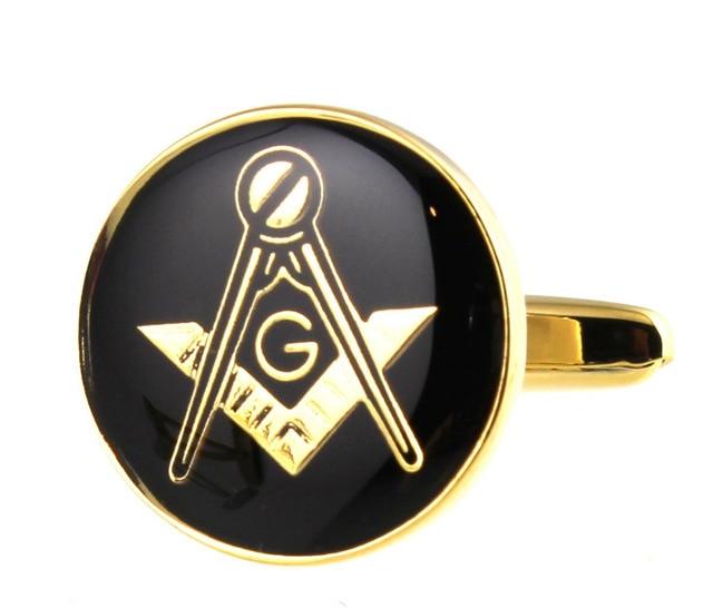 Sunnylink Mens Cuff Links Freemasons Symbol Black Gold Cufflinks