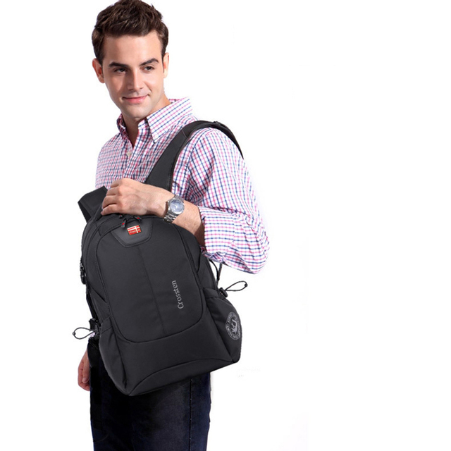 Crossten Swiss Multifunctional External USB Charge Port Laptop Bag Waterproof 16 5