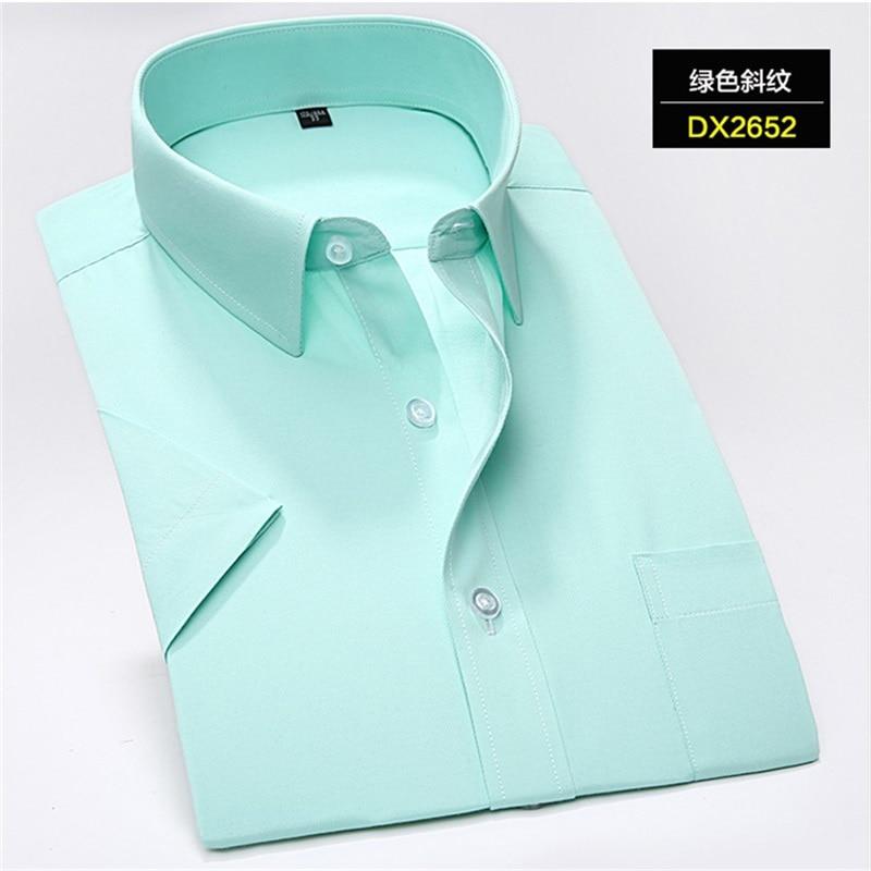 Plus-size 5XL 6XL 7XL Red Green Purple Twill Hidden Stripes Casual Business Formal Short Sleeve Shirt Men Fashion 110kg 120kg