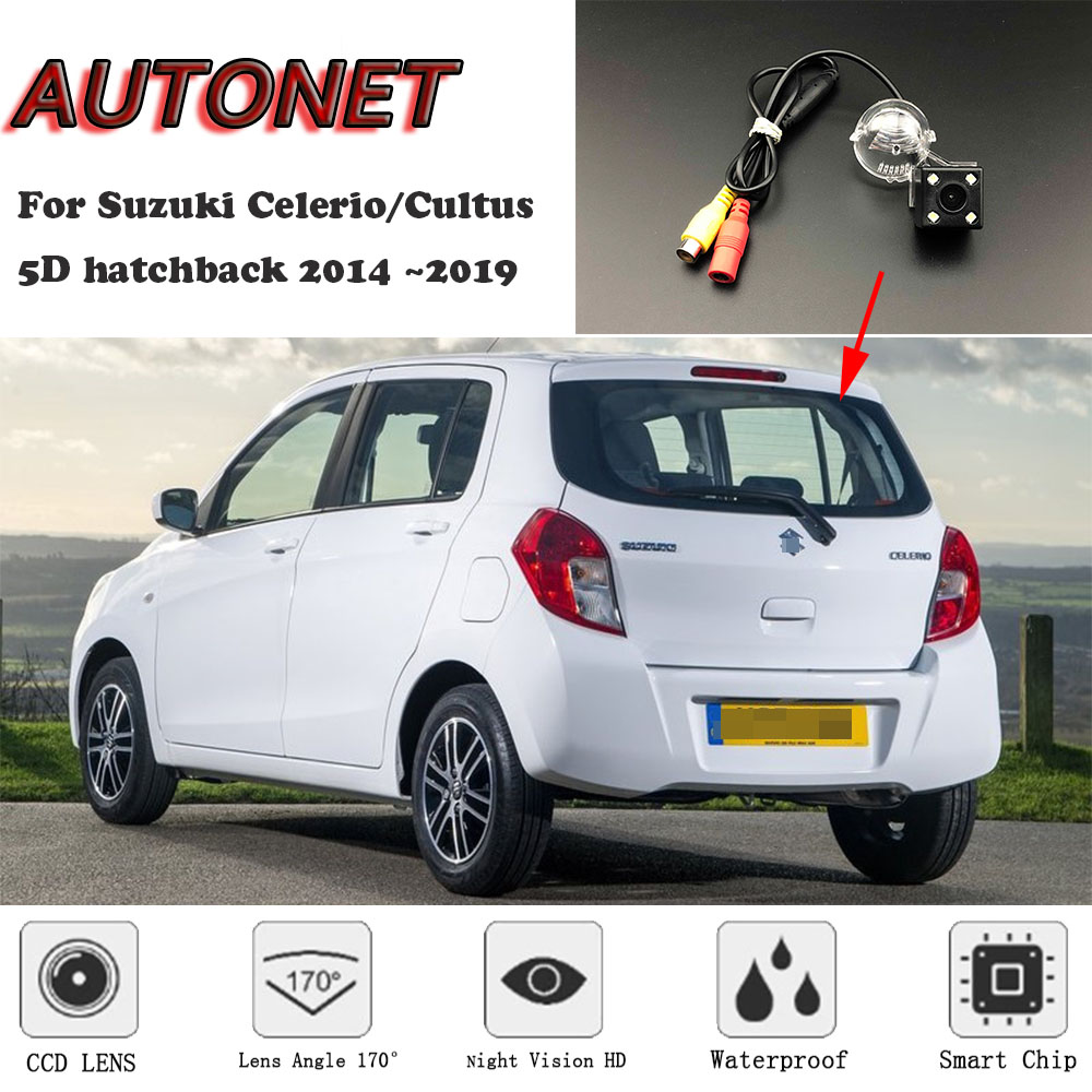 AUTONET Backup Rear View Camera For Suzuki Celerio/Cultus 5D Hatchback 2014 2015 2016 2017 2018Night Vision/license Plate Camera
