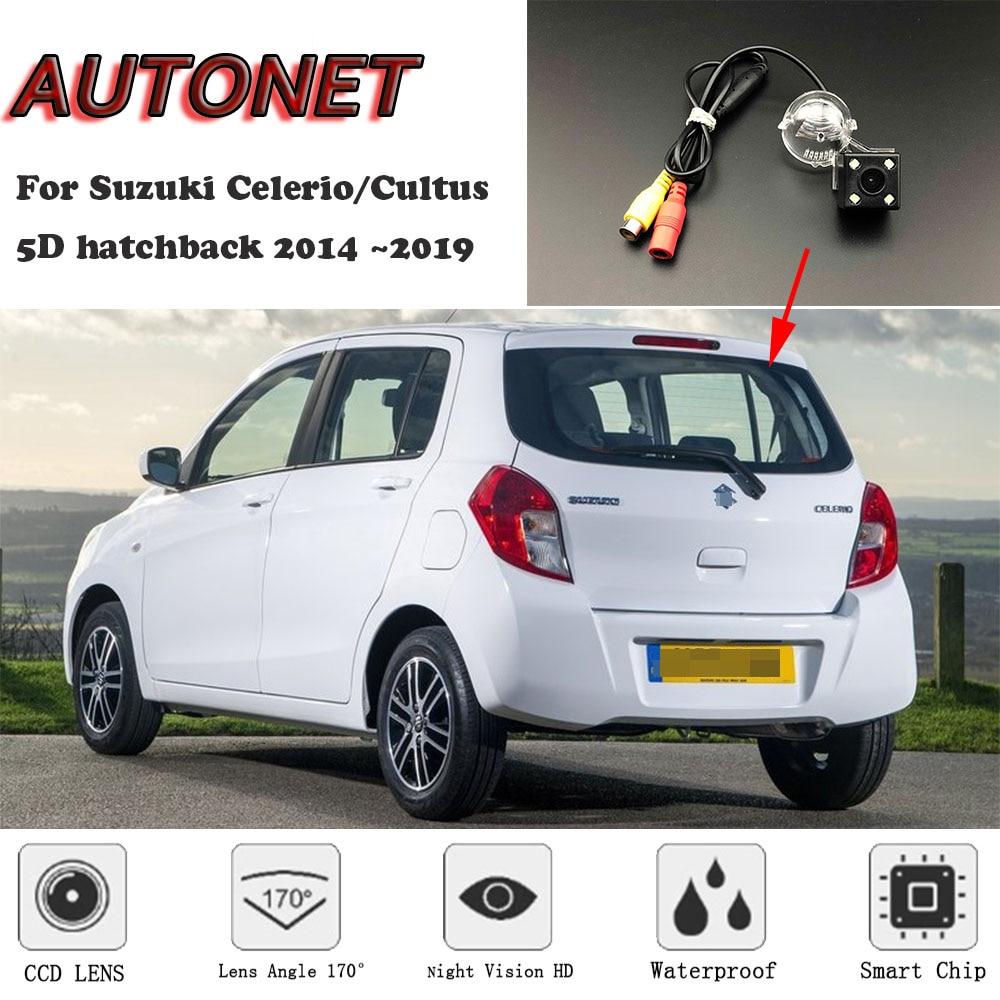 AUTONET Backup Rear View Camera For Suzuki Celerio/Cultus 5D Hatchback 2014 2015 2016 2017 2018Night Vision/license Plate Camera