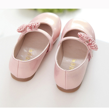 Pink Children Flowers Girls Kids Leather Princess Shoes For Teens Teenagers Girls Baby Party Wedding Dance Single Shoes