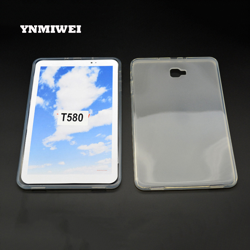 все цены на Silicone Case for Samsung Galaxy Tab 10.1 Inches TabA A6 T580 T585 TPU Soft Back Cover Matte Transparent Tablet Shell YNMIWEI