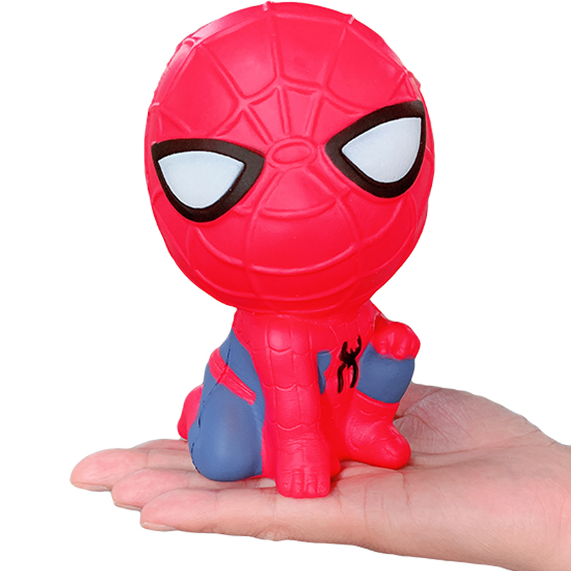 Jumbo Super Hero Avengers Spiderman Squishy Slow Rising Creative Bread Scented Soft Squeeze Stress Relief For Kid Funny Gift Toy