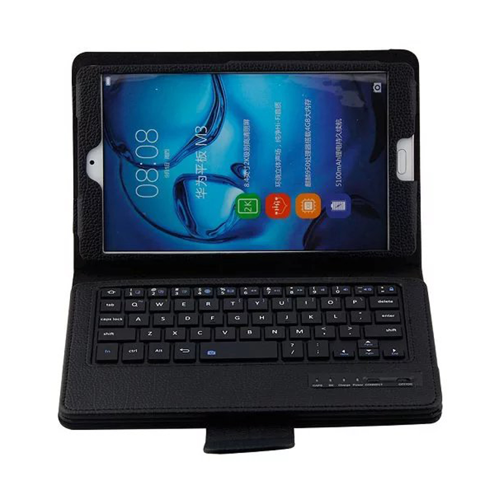 Luxe détachable Bluetooth 3.0 clavier Folio Stand housse en cuir pour Huawei MediaPad M3 8.4 BTV-W09 BTV-DL09 8.4