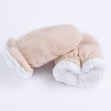 Теплые детские перчатки, детские вязаные перчатки из хлопка и шерсти, зимние варежки для мальчиков и девочек, подарок на год