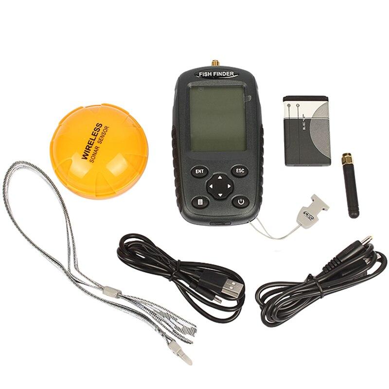 Здесь можно купить   FFW718 Fish finder Russian menu English menu Waterpoof Wireless Fishfinder Sensor 125kHz Sonar echo sounder Спорт и развлечения
