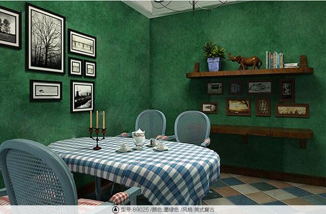 Online Shop Hot Koop non-woven Effen Wijnrood Behang Vintage ...