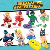 Super Heroes Marvel Avengers Iron Man Thor Captain America Batman Hulk Spiderman Building Blocks Toy Gift