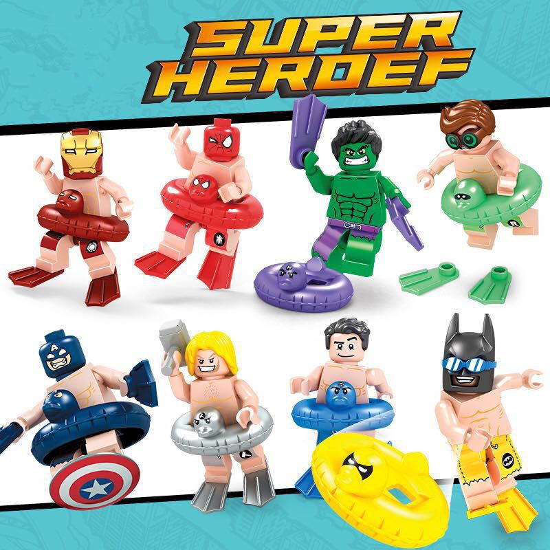 Super Heroes Marvel Avengers Iron Man Thor Captain America Batman Hulk Spiderman Building Blocks Toy Gift Compatible With Lego