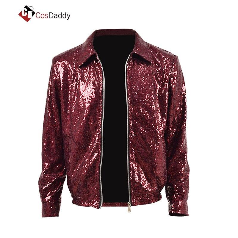 Degli uomini di Cosplay costume Rosso Giacca Cappotto di Pelle Outwear Ordine qualsiasi Formato CosDaddy