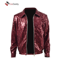 Mens Cosplay costume Red Jacket Coat Outwear Leather Made any Size  CosDaddy