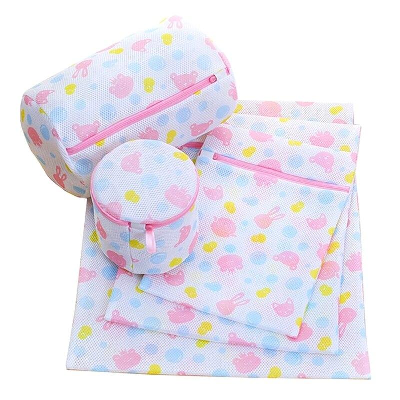 5 Sizes Lingerie Wash Bag For Washing Machine Nylon Mesh Underwear Bra Socks Laundry Bag Traveling Portable Storage Washing Bags