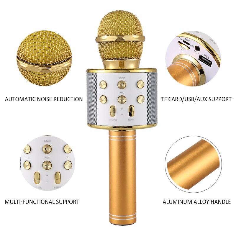 d6baa2e262d BIG SALE   Professionnel Bluetooth Sans Fil Microphone Haut-Parleur De  Poche Microphone Karaoke Mic Musique Lecteur Chant Enregistreur KTV  Microphone