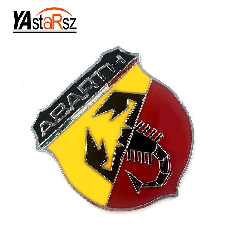 3d 3m Car Abarth Metal Adhesive Badge Emblem Logo Decal Sticker