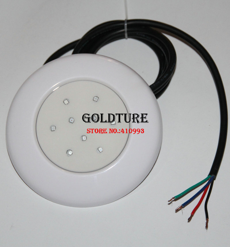 Spa Lamp RGB Swimming Pool LED Jaccuzi Light 9W PAR 56 White Sauna Pool Light 12V IP68 Waterproof Underwater for Concrete Liner
