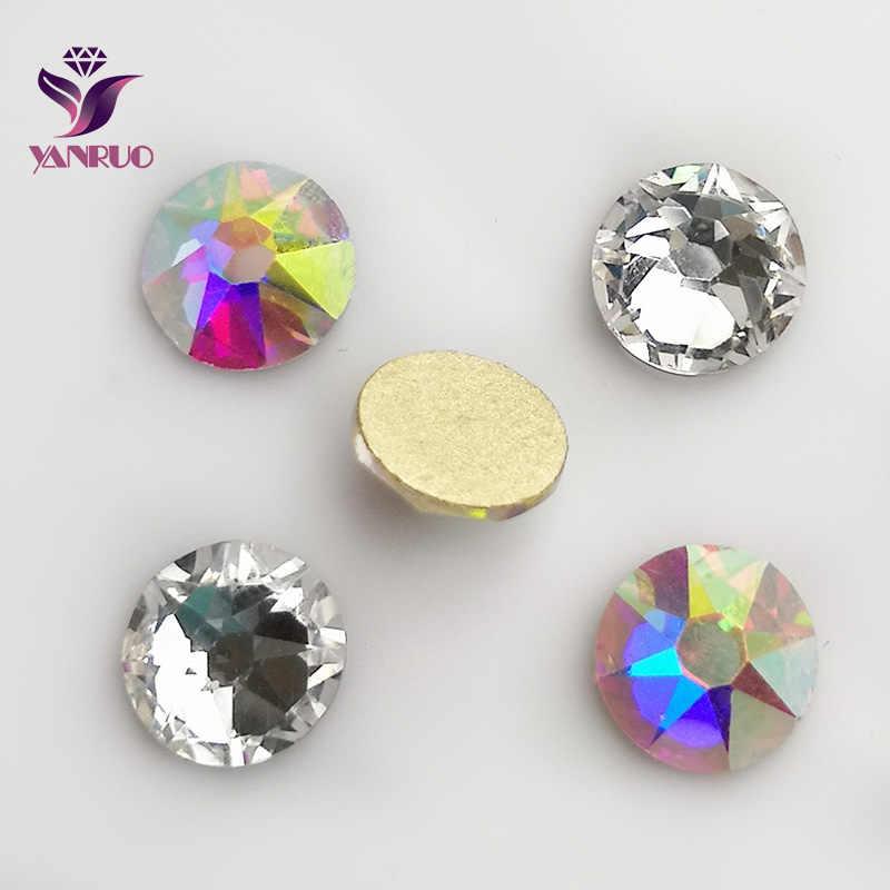 cace8318a1 YANRUO 2088 Non Hotfix Rhinestones Flatback AB Glass Cristal Crystal Stones  Jewelry Crafts Clothes Decor DIY Mobile Accessories