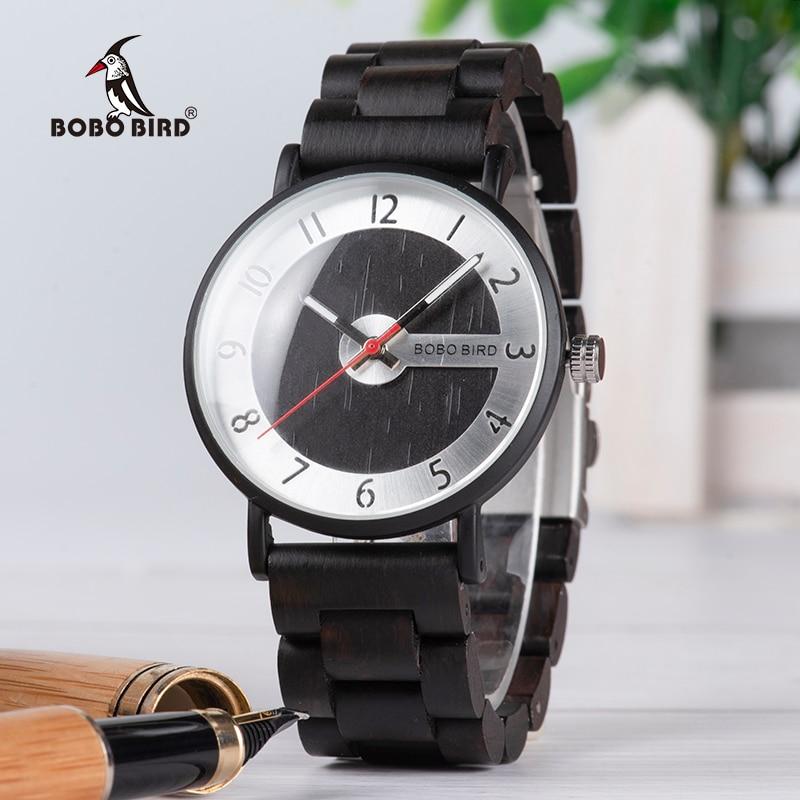 BOBO BIRD Ultra Thin Men Watch Simple Wood Band Quartz Wristwatch for Couples relojes para hombre цена