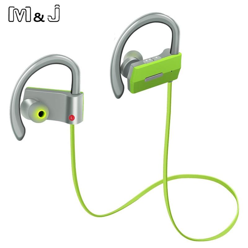 M & J Sports Wireless Bluetooth 4.1 Headphone Ear Hook Hifi Stereo - Audio dan video mudah alih - Foto 2