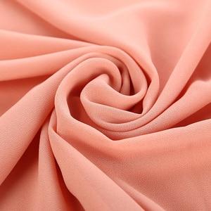 Image 3 - Popular Malaysia Style Muslim Hijabs Scarves/scarf Women Plain Bubble Chiffon Scarf Hijab Wrap Solid Shawls Headband Underscarf
