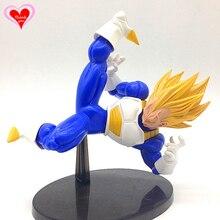 Love Thank You Dragon Ball Z Vegeta Super SaiYan Battle fighting PVC Figure 15cm Anime Hobbies Model toy doll gift NEW