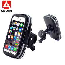 ARVIN Waterproof Bicycle Motorcycle Phone Holder For iPhone 8P X Samsung S8 Cycling Bike Mobile Phone Case Bag Support GPS Mount аквабокс overboard waterproof phone case and bike mount ob1156blk