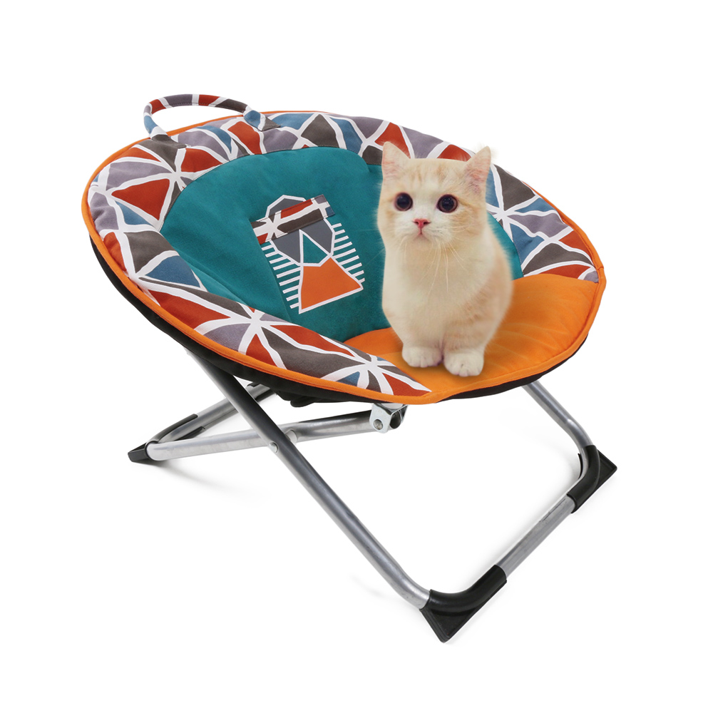Wondrous Us 48 76 46 Off Professional Folding Pets Puppy Saucer Moon Chair Round Seat Adopt For Soft Durable Canvas Cat Dog Chair Soft Pet Bed For Kitten In Customarchery Wood Chair Design Ideas Customarcherynet