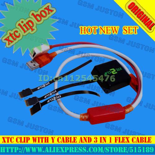 La Más Nueva Versión 2 Xtc Xtc Clip Clip de 2 Caja con Cable Y Con Cable Flexible 3 En 1 Cable