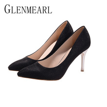 2018 New Thin Heel Pumps Women's Shoes Brand Bling Sexy Spring Women High Heel Shoes For Female Single Pumps Wedding Shoes25