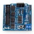Envío libre UNO R3 MEGA tarjeta de expansión sensor v5.0 Sensor Shield V5 para bloques de construcción electrónicos de Arduino de piezas de robot