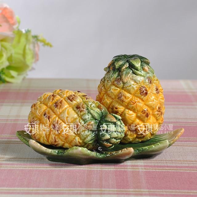 Ceramic Pineapple Food Container Spice Jar Kitchen Storage Jar Home Decor  Handicraft Porcelain Figurines Crafts Decorations