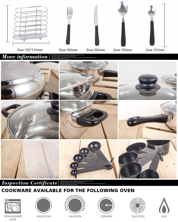 2020 Panelas De Ceramica Arrival Fda Top Fashion Real Cookware Cooking Pots And Pans Set 80 Piece Kitchen Starter Combo Utensil