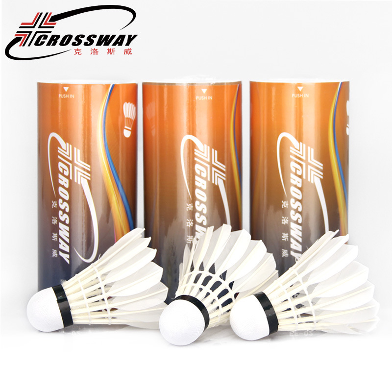 CROSSWAY new Shuttlecock 3pcs Gym Exercise Training Badminton High Quality Badminton Shuttlecock Outdoor Sports Accessories FF02