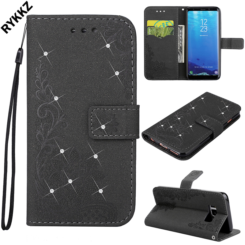 Leather housing for Samsung Galaxy S8 SM-G950FD SM-G950F G950U G950A G950T Flip case for samsung s 8 SM G950 Silicone phone bag
