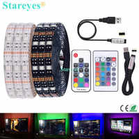 SMD 5050 RGB LED Strip DC 5V USB LED Light Strip Flexible IP20 IP65 Waterproof Tape 1m 2m 3m 4m 5m add Remote For TV Background