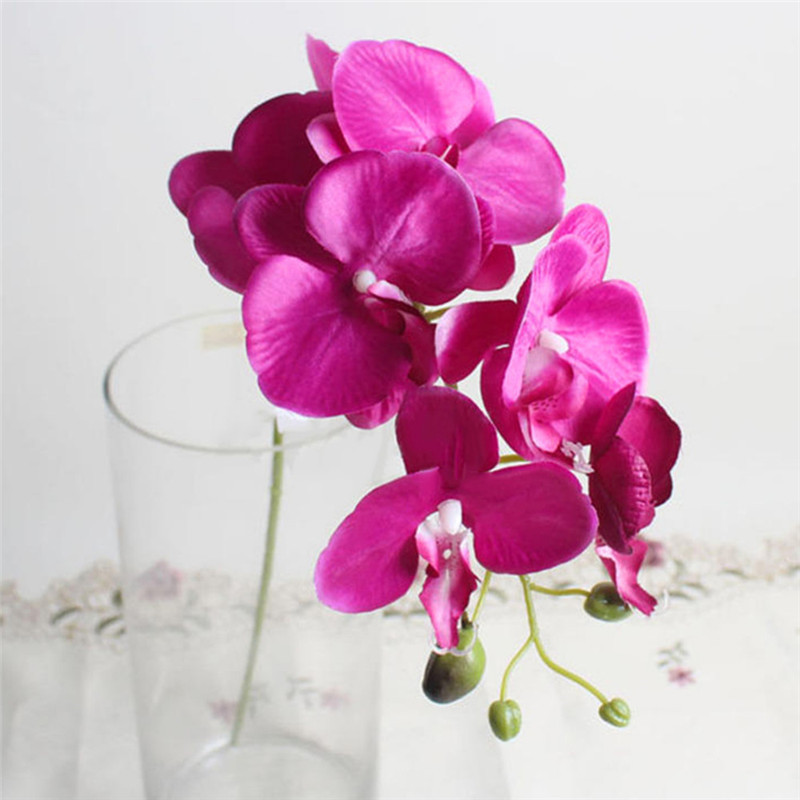 Mother's Day Flowers DIY Artificial Butterfly Orchid Silk Flower Bouquet Phalaenopsis Wedding Home Decoration Flowers Gift