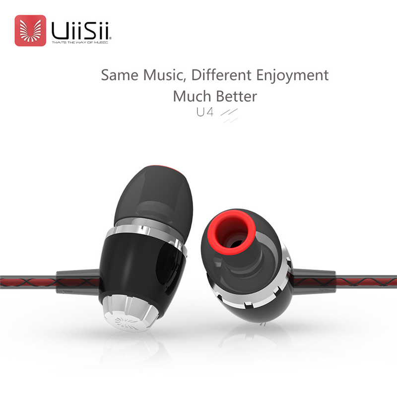 New UiiSii U4 Super Bass Earbuds Handsfree Gaming Earphones With Microphone For Moblie Phones Computer Headset Sport Audifonos